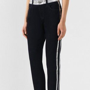 Current Elliott The Fling Denim Jeans Silver Trim